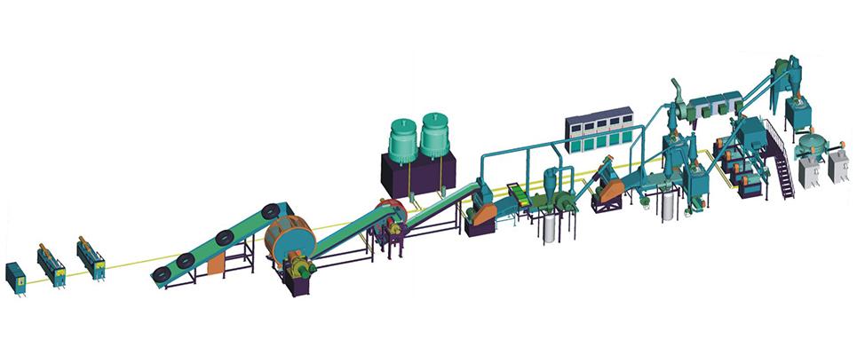 ماشین آلات خط بازیافت لاستیک