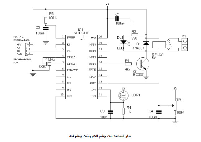 مدار شماتیک چشم الکترونیک