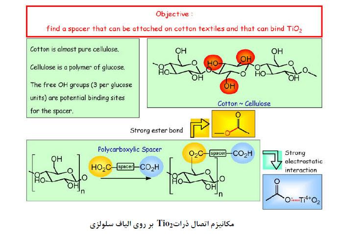 2 مکانیزم اتصال ذراتTio 2 بر روی الیاف سلولزی