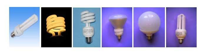 بعضی از اشکال مختلف لامپ های کم مصرف