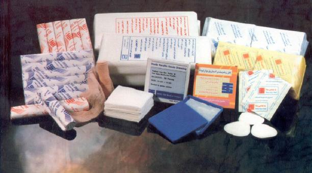 انواع باند و گاز پزشکی