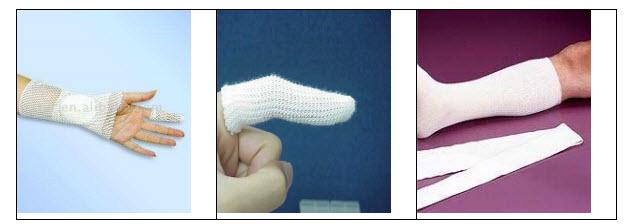چند نمونه از باندهای مدور برای نگهداری پانسمان انگشت، دست و پا