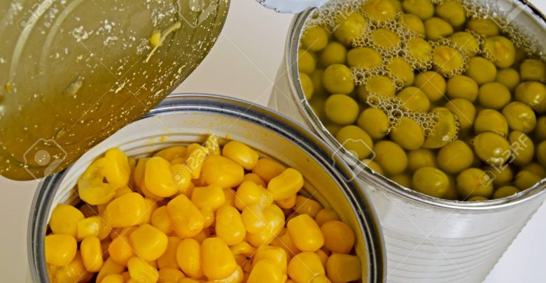canned vegetables are corn and peas in open cans  780x405 - طرح تولید کنسرو ذرت و نخود فرنگی